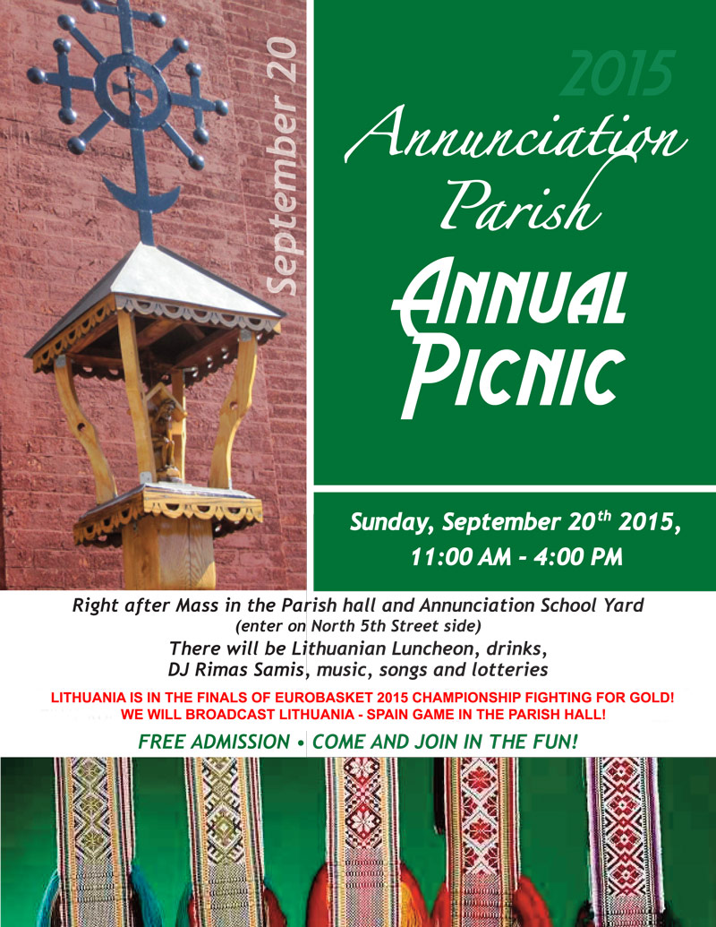 Annunciation-NY parish traditional picnic with Eurobasket 2015 Finals video streaming