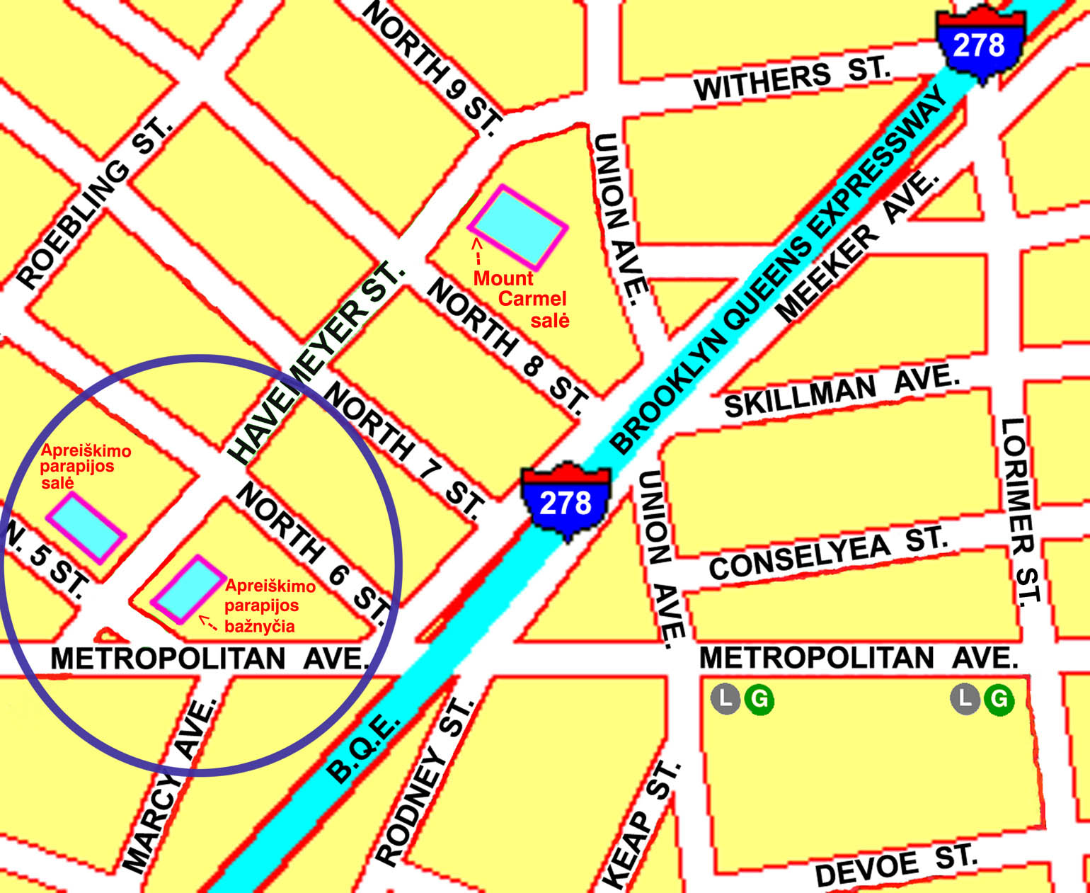NY Annunciation location - map